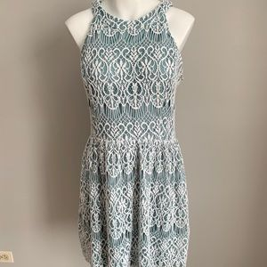 Altar'd State Teal Lace Dress